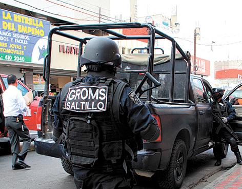 Confirma oficial, policías de Saltillo sí fueron detenidos por GROMS