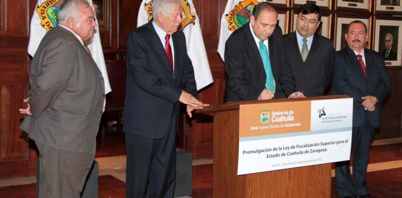 Firman en Coahuila decreto para promulgar ley de Fiscalización Superior