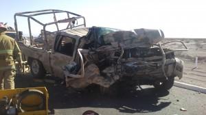 Dos militares muertos y 8 lesionados por encontronazo en San Pedro