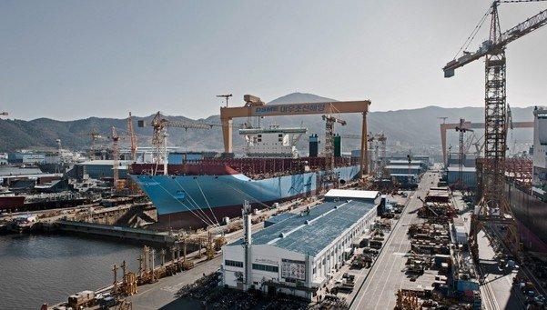 El montaje del buque mas grande