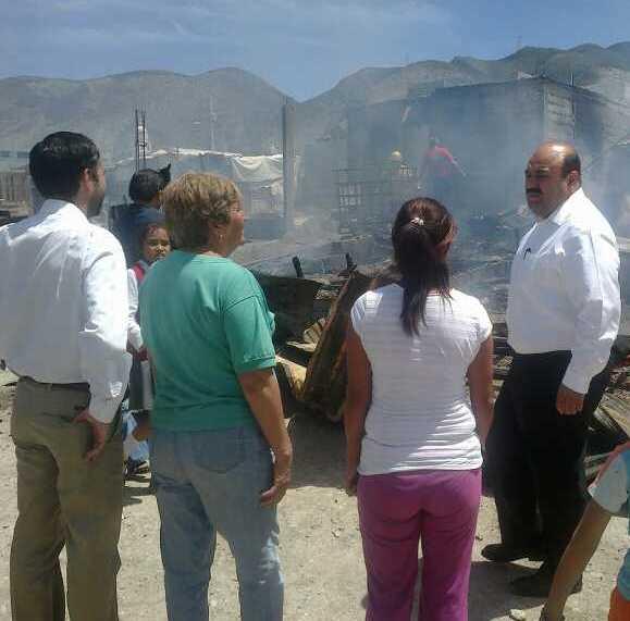 Incendio en Sierra de Zapalinamé consume viviendas