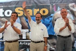 Líder Nacional del PAN acudió a Ramos Arizpe para apoyar al candidato Ernesto Saro