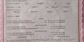 Registran en Coahuila a niña con dos madres