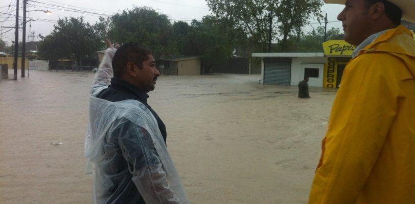 Tromba inunda Piedras Negras, muere un hombre