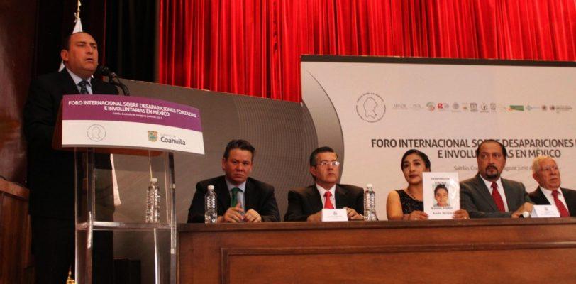 Coahuila sede del Primer Foro Internacional sobre desapariciones