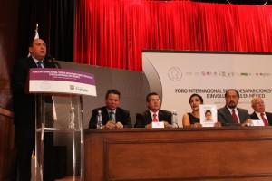 Coahuila sede del primer Foro Internacional de desapariciones forzadas e involuntarias.