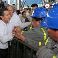Enrique Peña Nieto con Trabajadores de AHMSA