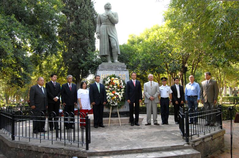 Conmemoran 202 aniversario luctuoso de Miguel Hidalgo