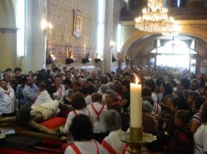 Novenario del Santo Cristo tiene asistencia de más de 9 mil feligreses