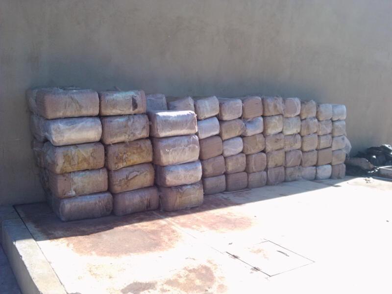 Asegura GATE una tonelada de marihuana en Piedras Negras