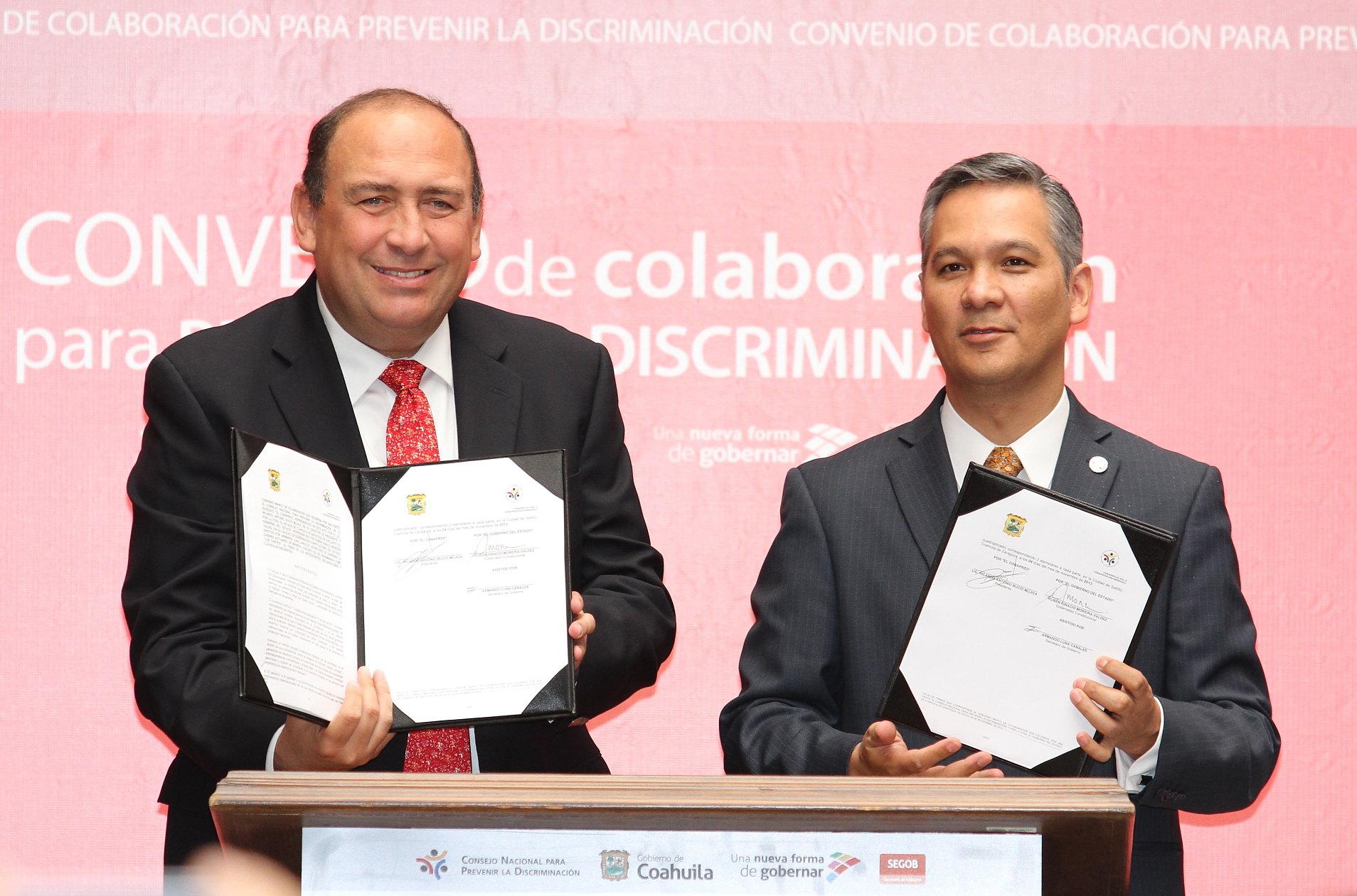Firman convenio de 13 acciones por la igualdad de Coahuila