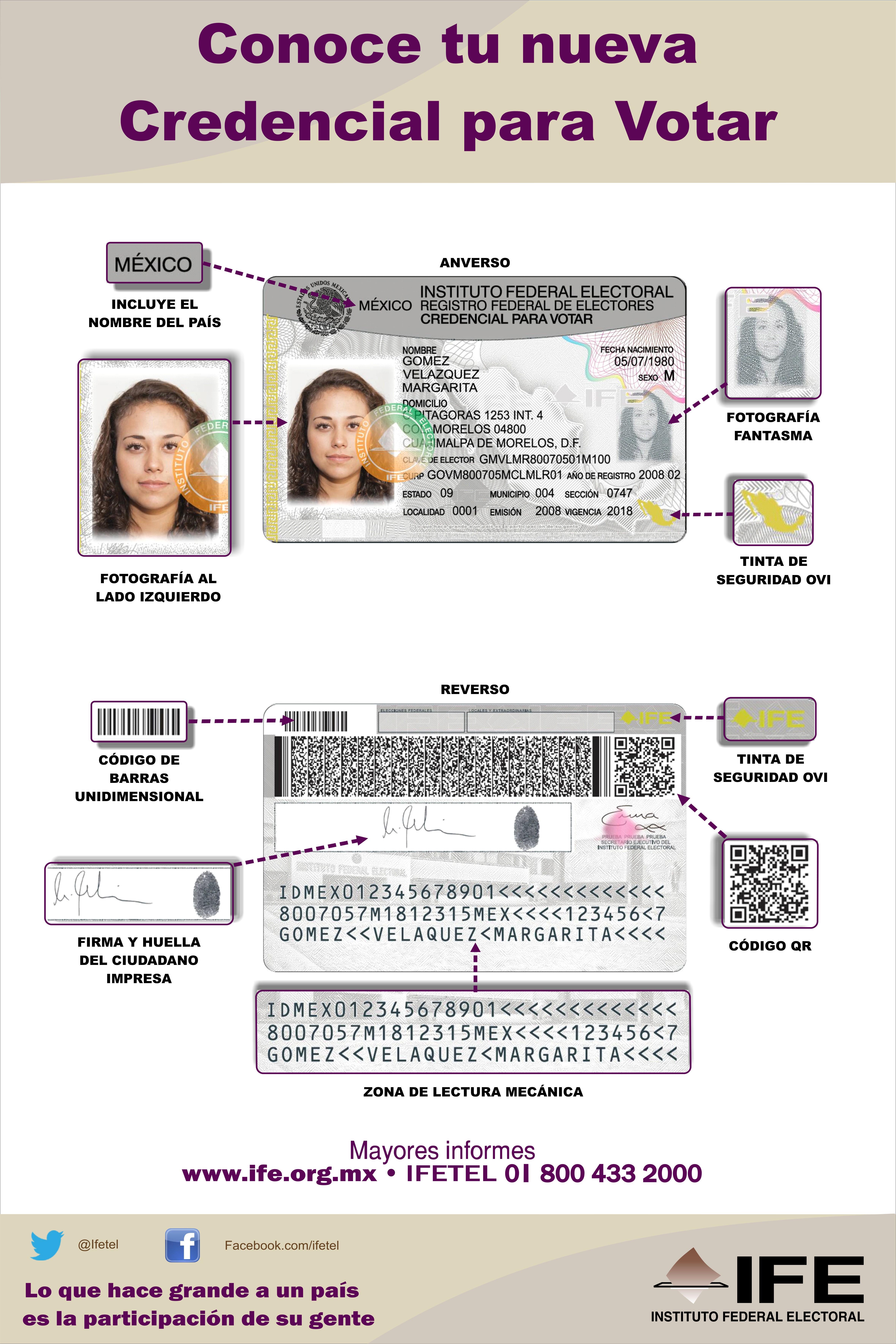 Nuevas credenciales del IFE también serán en braille