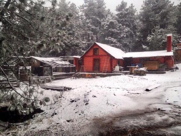 Se cubre de nieve la Sierra de Arteaga