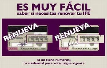 Analiza IFE ampliar vigencia en credenciales 09 y 12