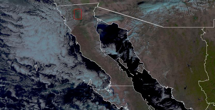 Se pronostican nevadas en la sierra de Baja California