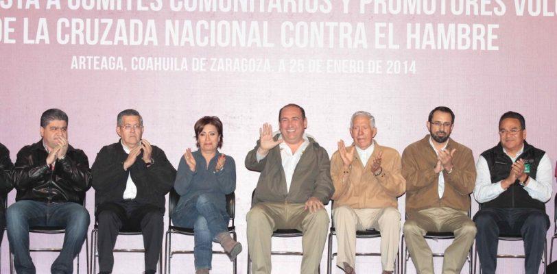 "Ampliarán a 59 comunidades ""Cruzada contra el Hambre"" en Coahuila"
