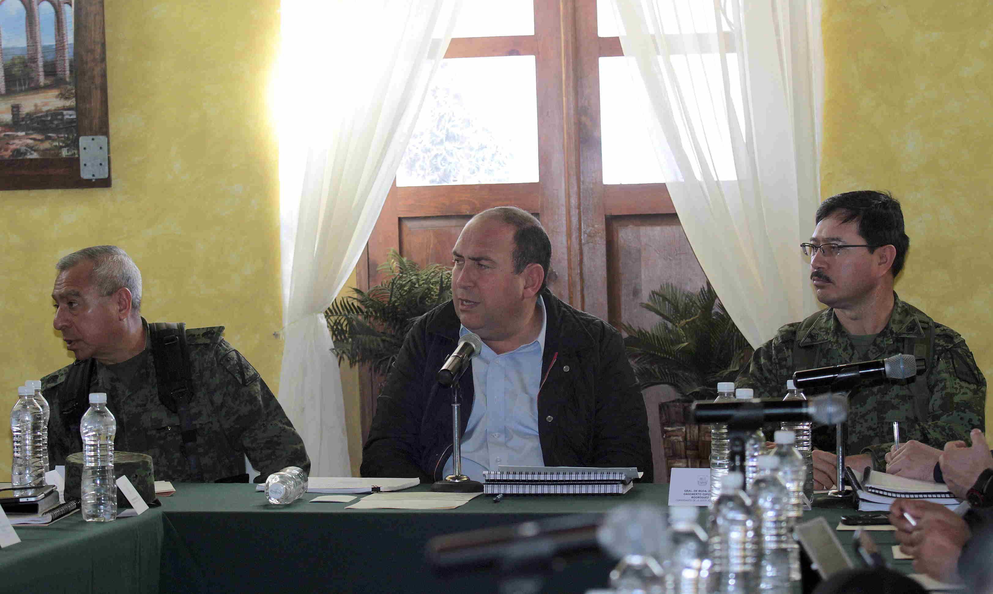 Encabeza RMV reunión del grupo de coordinación operativa, en San Pedro