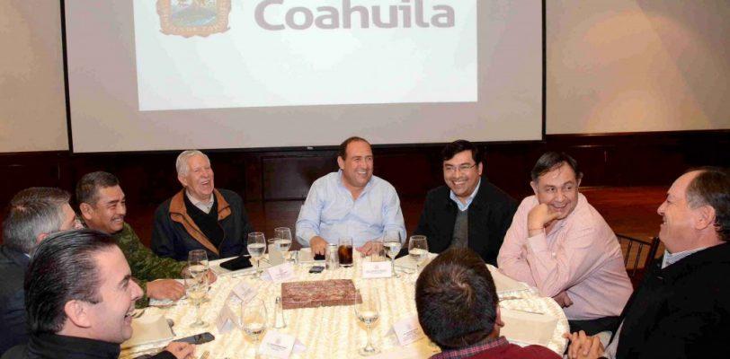 Exhorta Gobernador a delegados federales empatar acciones por Coahuila