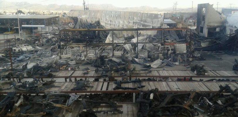 Incendio en yonke pudo ser intencional: PC