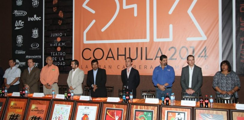 Presentan la tradicional 21k Coahuila 2014