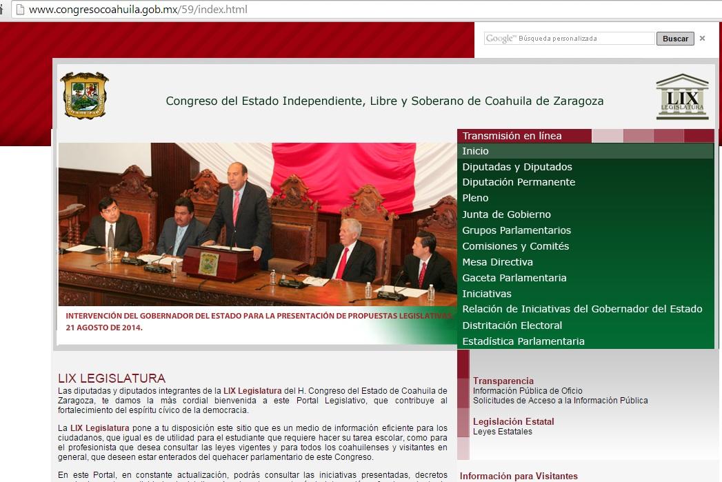 Hackean página del Congreso de Coahuila