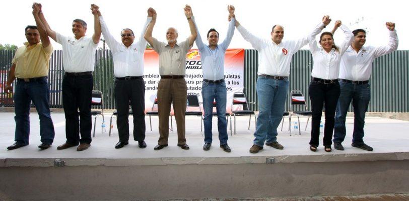 El PRI y sus candidatos son aliados de los trabajadores: David Aguillón