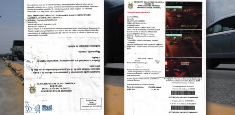 Aumentan quejas en Arteaga por foto multas de Saltillo