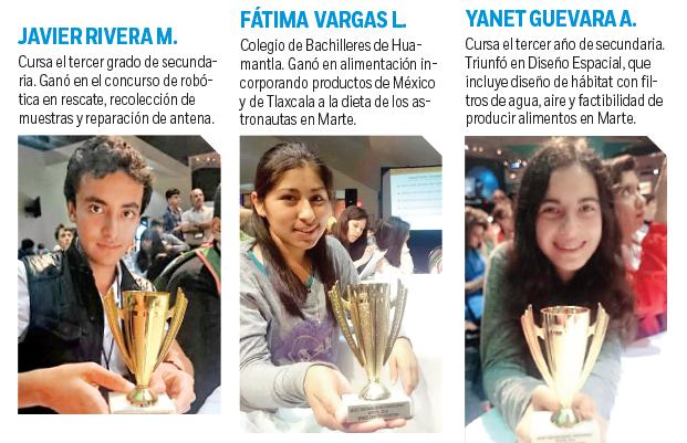 Triunfa el talento mexicano; ganan en concurso de la NASA