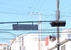 Reporte de letrero al revés, centro Saltillo