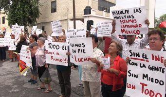 Protesta PT en INE Coahuila, reclama irregularidades en 14 casillas
