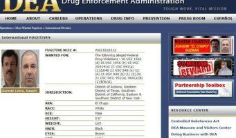 Recompensa de la DEA de 5 mdd por 'El Chapo'