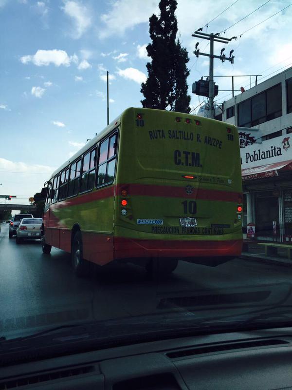 Reportan ruta de transporte urbano