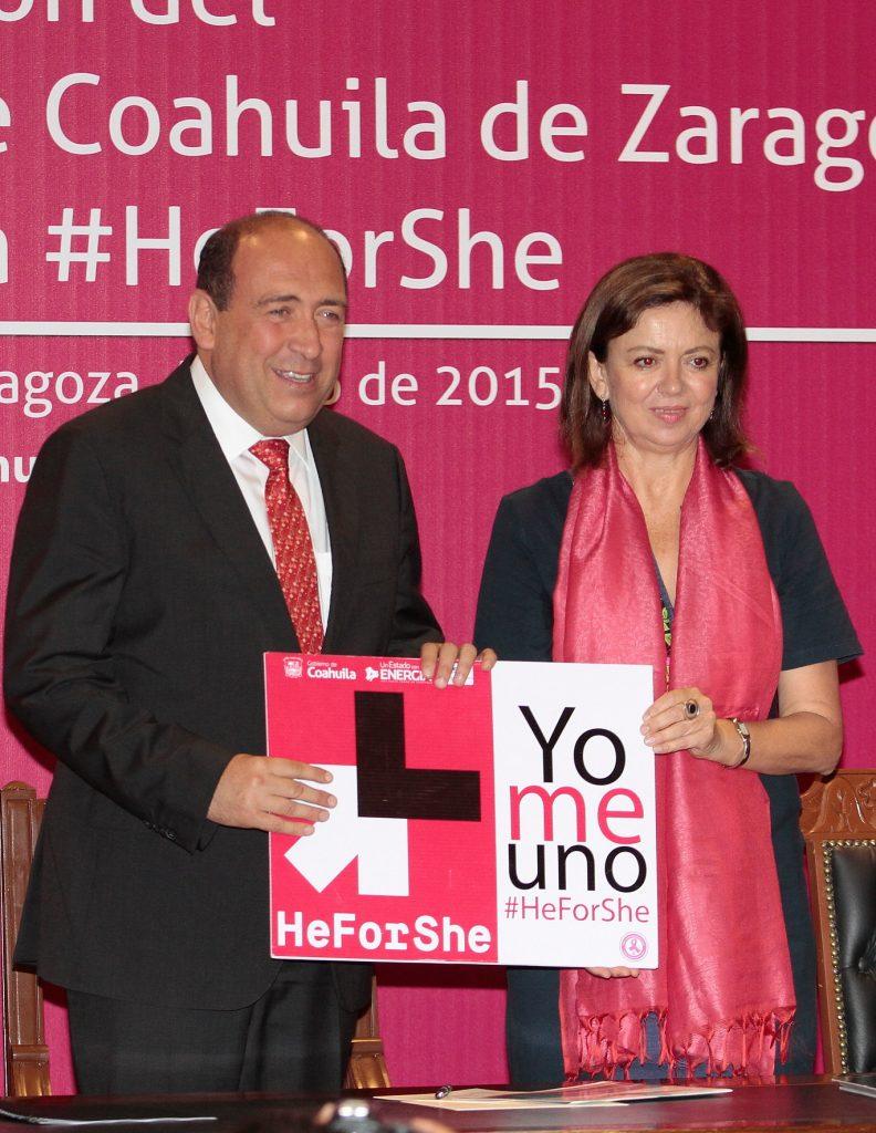"""Se suma Coahuila a la campaña """"He for She"""", impulsada por la ONU"""