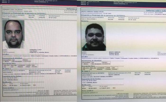 Emite Interpol fichas de implicados en venta de menores en Sonora