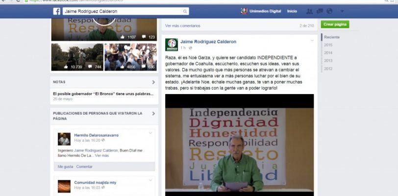 """""""El Bronco"""" de Nuevo León respalda a Noé Garza para Gobernador de Coahuila"""