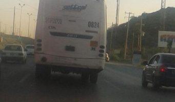 Camión circula sin placas