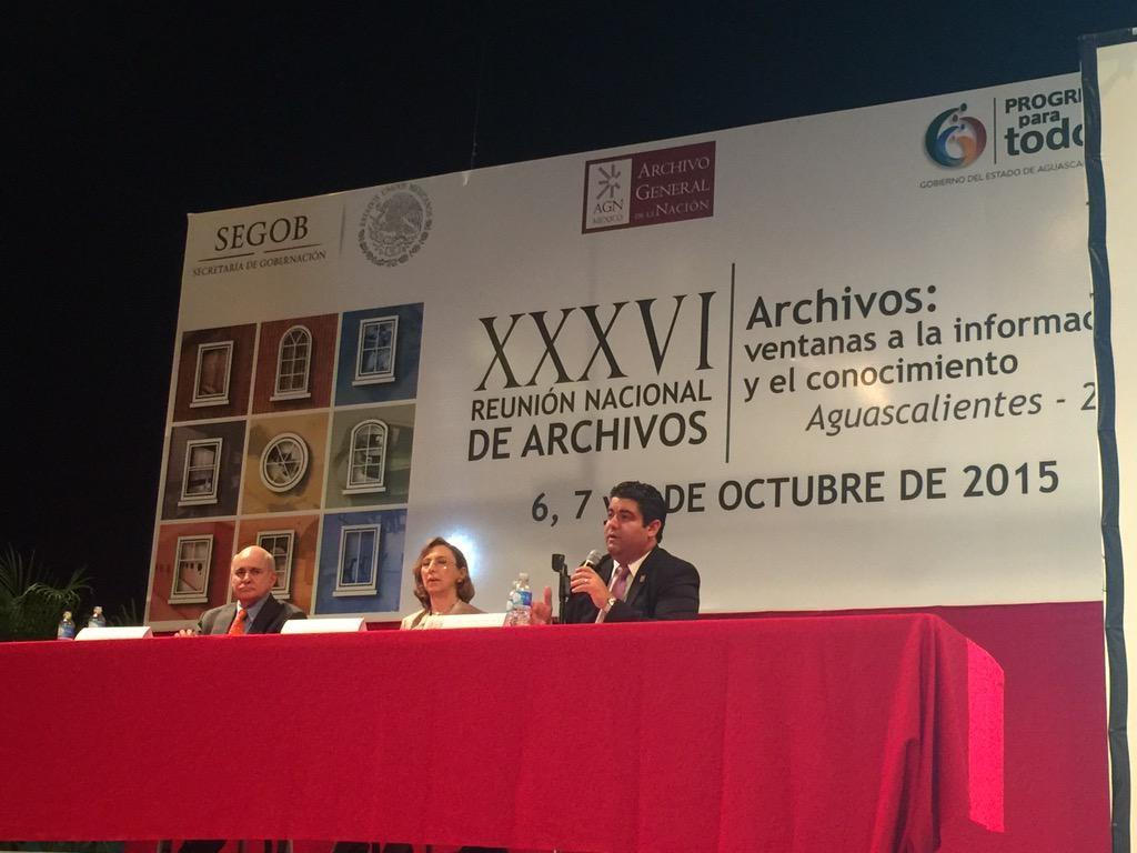 El Comisionado Presidente del ICAI presente en la Reunión Nacional de Archivos