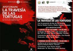 """Presentarán libro sobre los normalistas de Ayotzinapa """" La travesía de las tortugas"""""""
