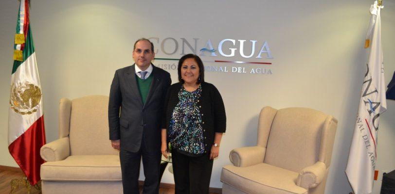Se reúne Silvia Garza con titular de la CONAGUA