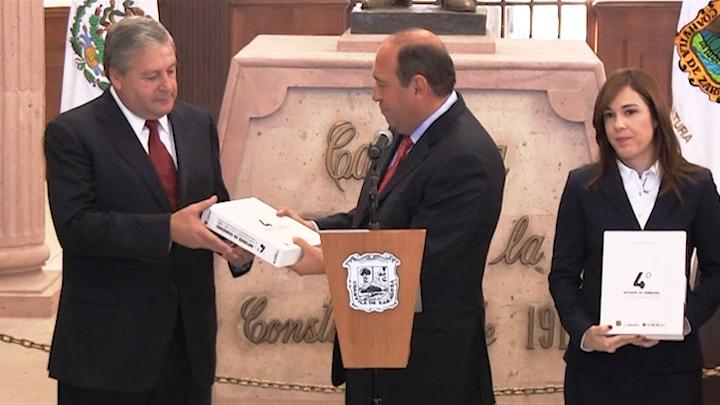 Rubén Moreira Valdez entregó su IV informe de gobierno al Congreso de Coahuila