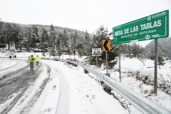 Pronostica SMN nevadas en las zonas montañosas de Coahuila