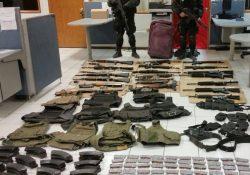 Policía de Coahuila asegura arsenal en San Buenaventura