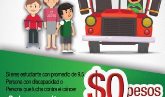 Transporte público gratis en Ramos Arizpe para personas con discapacidad y estudiantes modelo