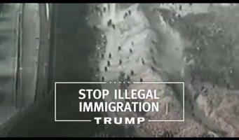 Utiliza Donald Trump imagenes de frontera de España simulando que es la de México
