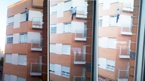 (VIDEO) Hombre olvida sus llaves y muere al intentar entrar a su casa por la ventana