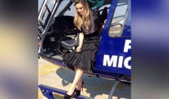 El polémico viaje de Belinda en un helicóptero oficial para ver al Papa