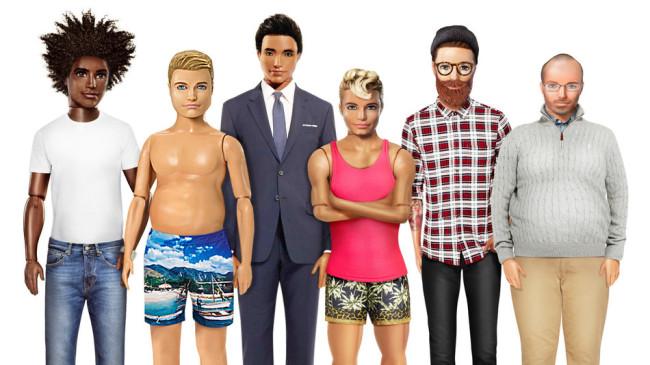 Ahora Ken muestra su nuevo cuerpo: con pancita, chaparrito o sin músculos
