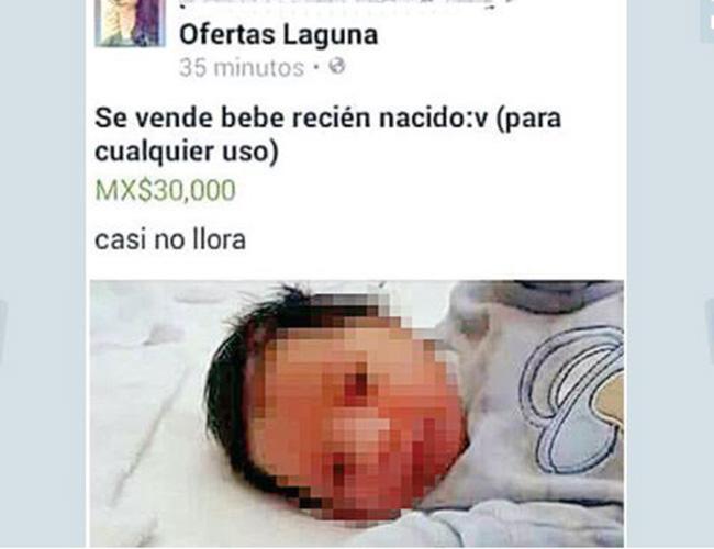 Investiga PRONNIF presunta venta de bebés en redes sociales