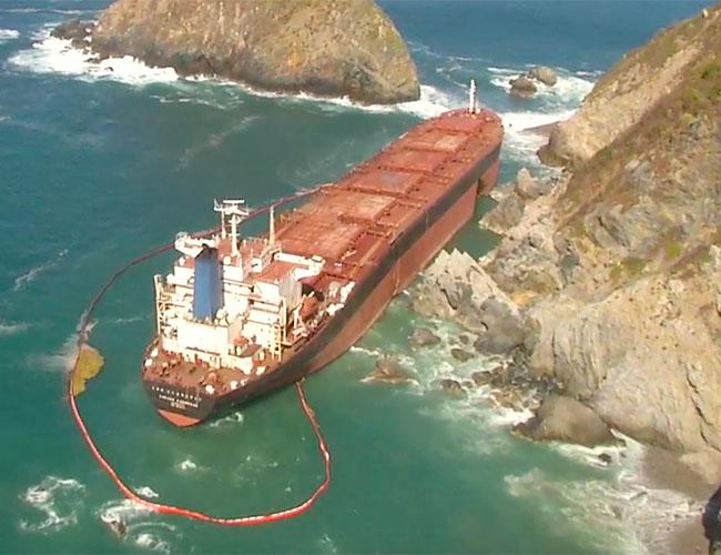Descarta Profepa contaminación por buque varado en costas de Jalisco