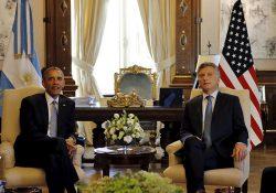 Inicia Obama intensa gira de trabajo en Argentina; se reúne con Macri en Buenos Aires